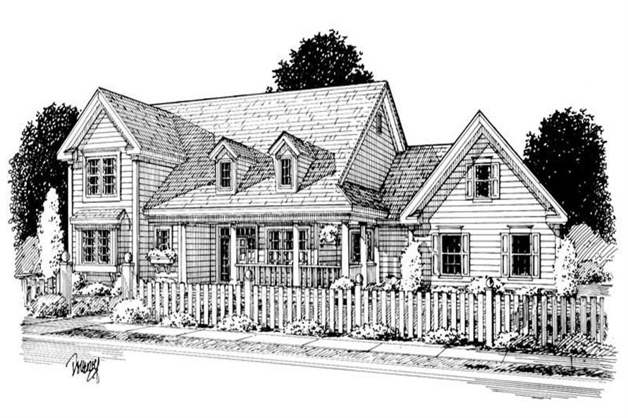 Home Plan Rendering of this 4-Bedroom,2438 Sq Ft Plan -178-1017