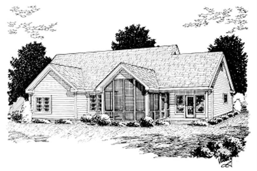 Home Plan Rear Elevation of this 3-Bedroom,1958 Sq Ft Plan -178-1018