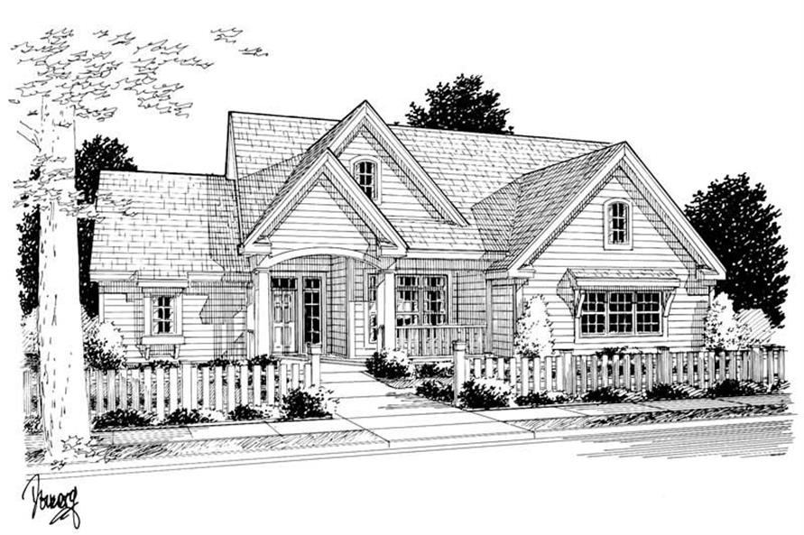 3-Bedroom, 1958 Sq Ft French House Plan - 178-1018 - Front Exterior
