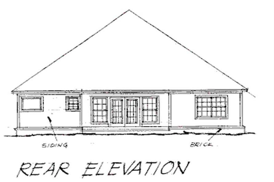 Home Plan Rear Elevation of this 4-Bedroom,2073 Sq Ft Plan -178-1019
