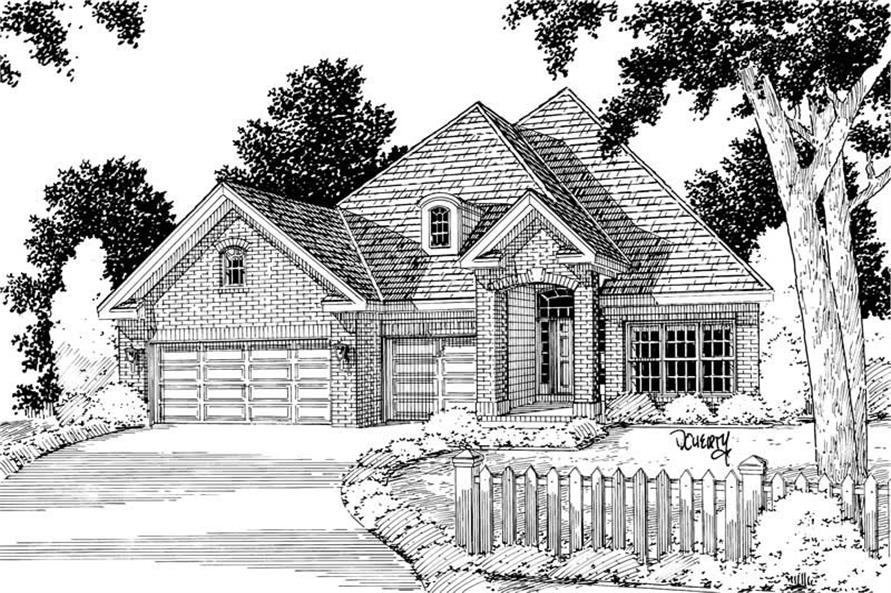 4-Bedroom, 2073 Sq Ft Ranch Home Plan - 178-1019 - Main Exterior