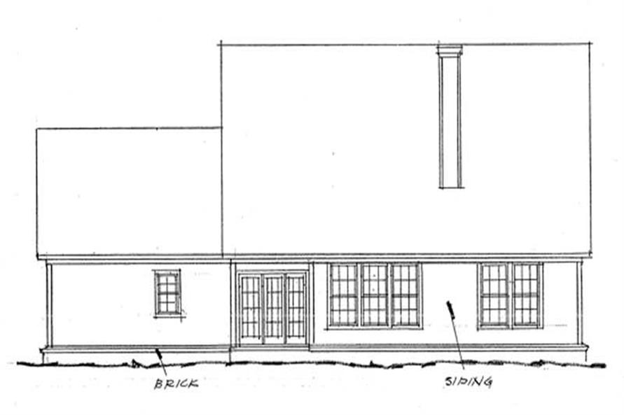 Home Plan Rear Elevation of this 4-Bedroom,2521 Sq Ft Plan -178-1022