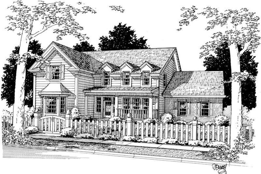 4-Bedroom, 2521 Sq Ft Country Home Plan - 178-1022 - Main Exterior