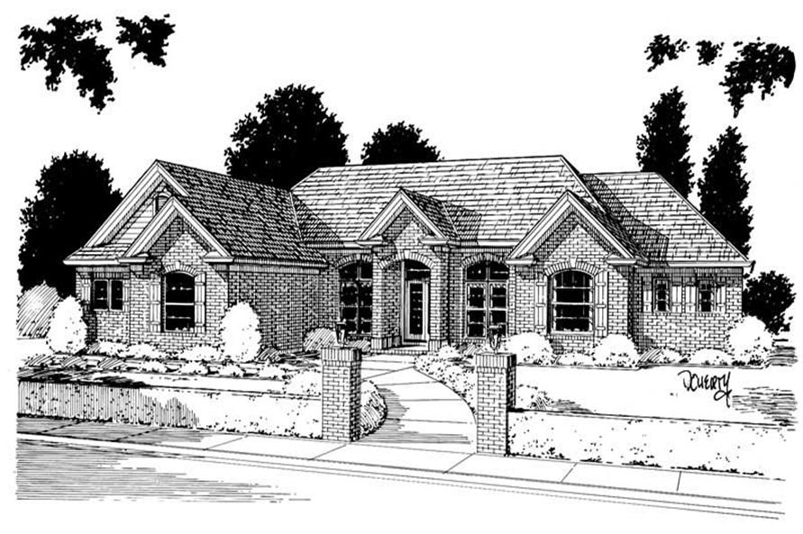 4-Bedroom, 2297 Sq Ft European Home Plan - 178-1023 - Main Exterior