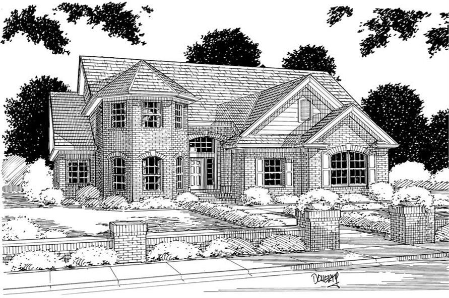 4-Bedroom, 2878 Sq Ft European Home Plan - 178-1024 - Main Exterior