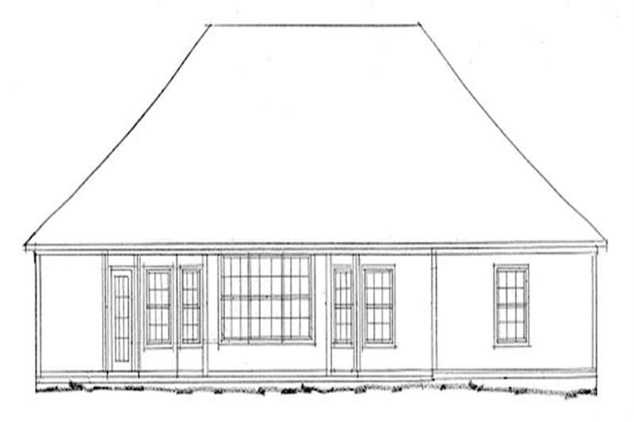 Home Plan Rear Elevation of this 3-Bedroom,1767 Sq Ft Plan -178-1026