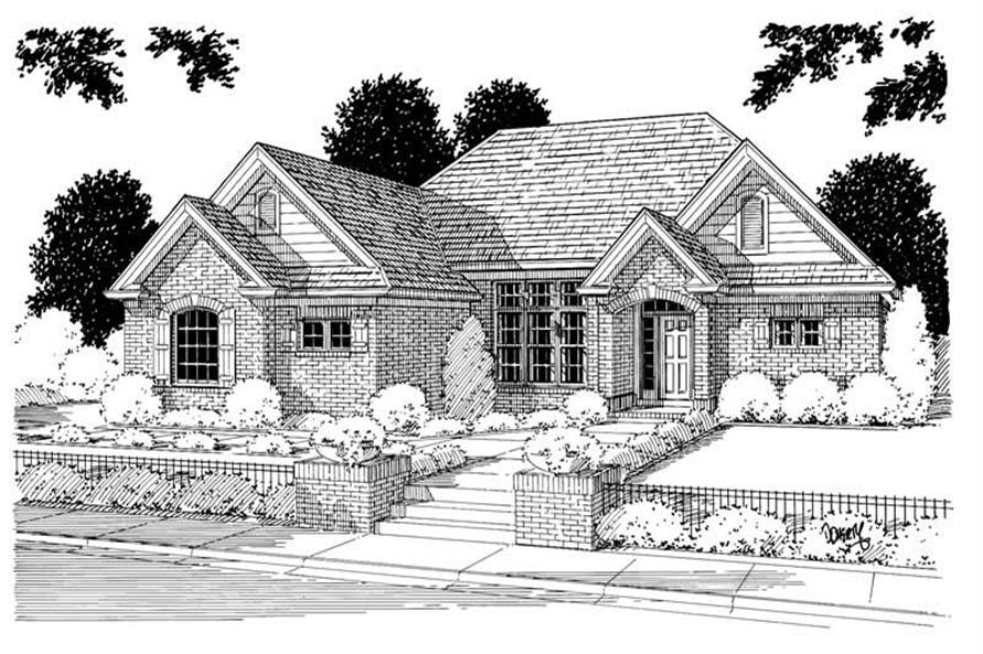 3-Bedroom, 1767 Sq Ft Small House Plans - 178-1026 - Main Exterior