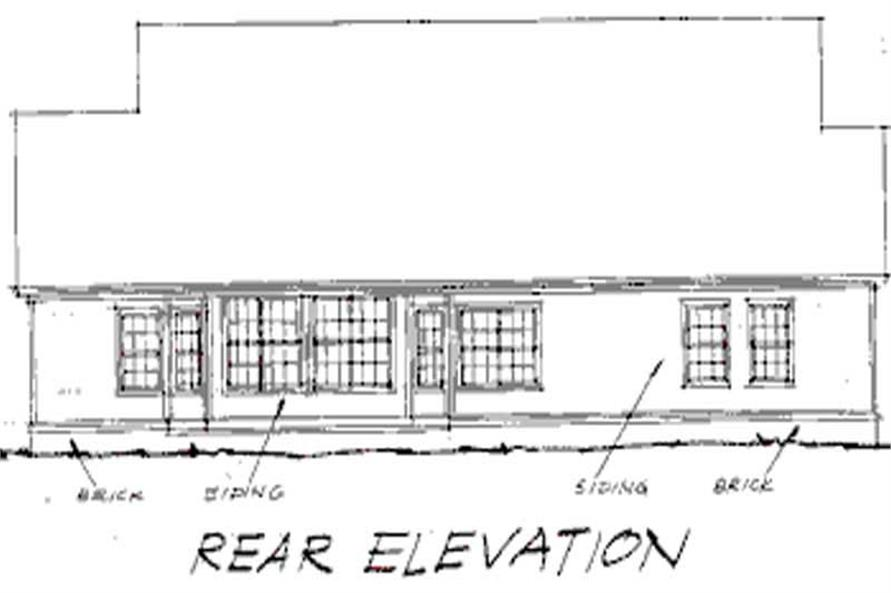 Home Plan Rear Elevation of this 4-Bedroom,2144 Sq Ft Plan -178-1027