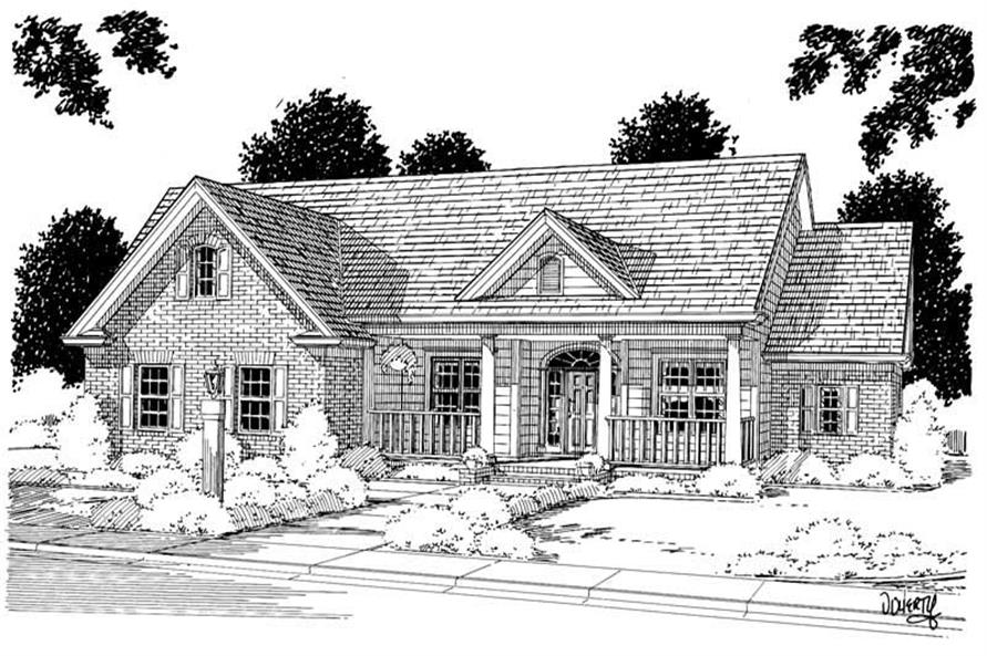4-Bedroom, 2144 Sq Ft Ranch Home Plan - 178-1027 - Main Exterior