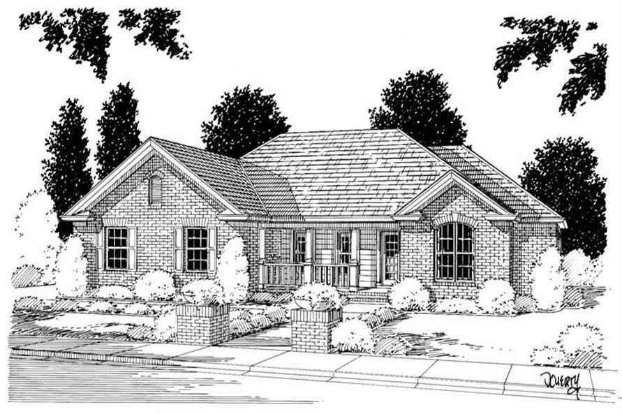 4-Bedroom, 1539 Sq Ft Small House Plans - 178-1029 - Main Exterior