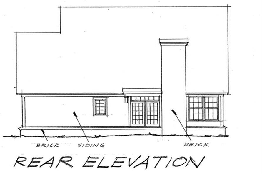 Home Plan Rear Elevation of this 3-Bedroom,1682 Sq Ft Plan -178-1031