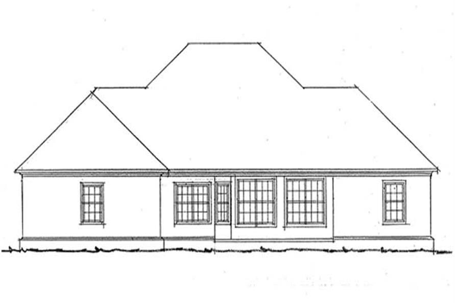 Home Plan Rear Elevation of this 3-Bedroom,2095 Sq Ft Plan -178-1032