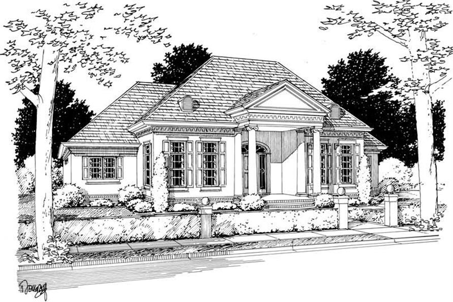 3-Bedroom, 2095 Sq Ft Colonial Home Plan - 178-1032 - Main Exterior