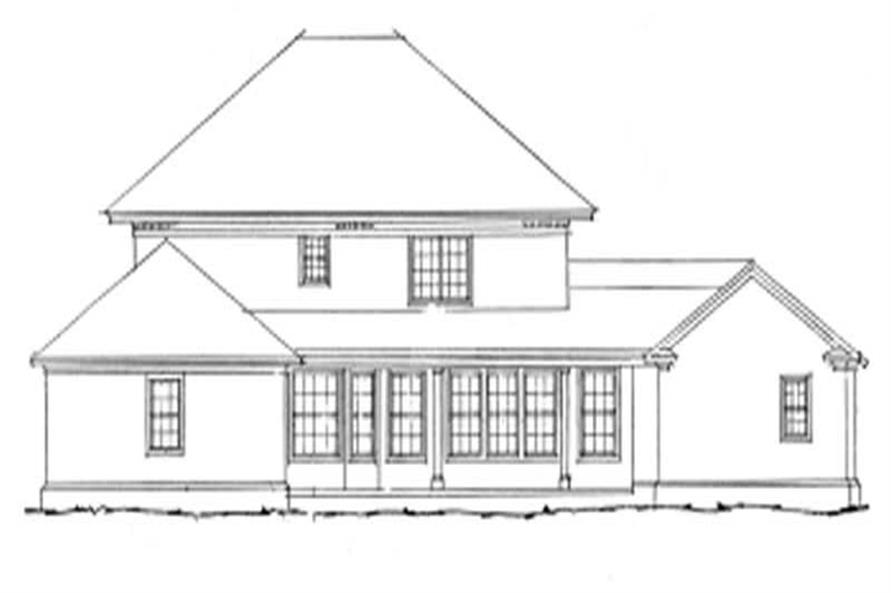 Home Plan Rear Elevation of this 4-Bedroom,3270 Sq Ft Plan -178-1034