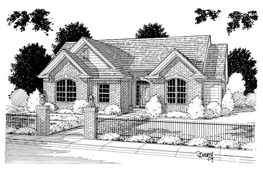 3-Bedroom, 1395 Sq Ft Small House Plans - 178-1036 - Main Exterior