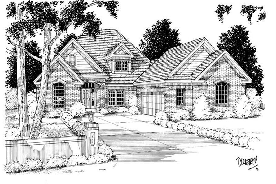 4-Bedroom, 2837 Sq Ft European Home Plan - 178-1039 - Main Exterior