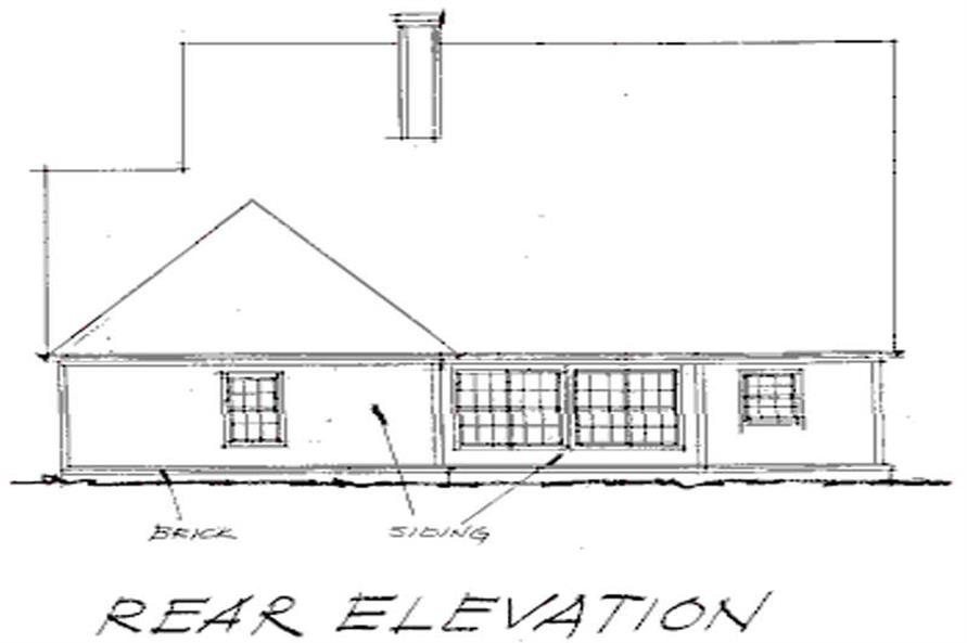 Home Plan Rear Elevation of this 3-Bedroom,2192 Sq Ft Plan -178-1040