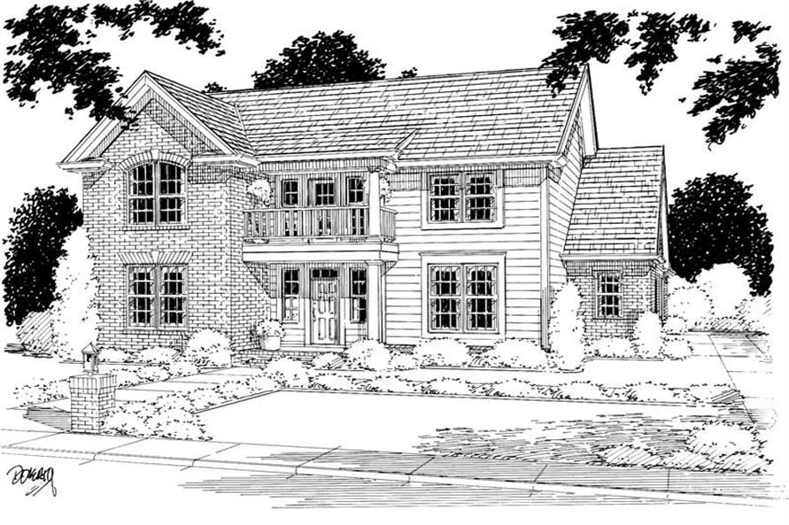 3-Bedroom, 2192 Sq Ft Country Home Plan - 178-1040 - Main Exterior