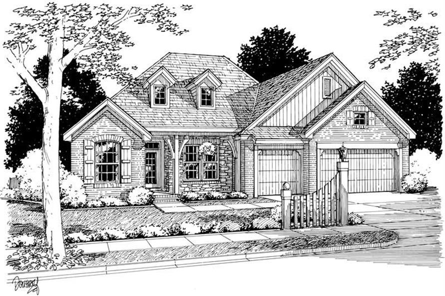 4-Bedroom, 2576 Sq Ft Ranch Home Plan - 178-1042 - Main Exterior