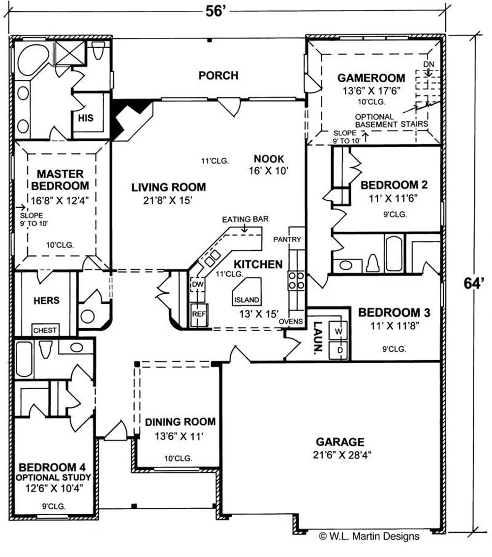 Large Images For House Plan 178 1042