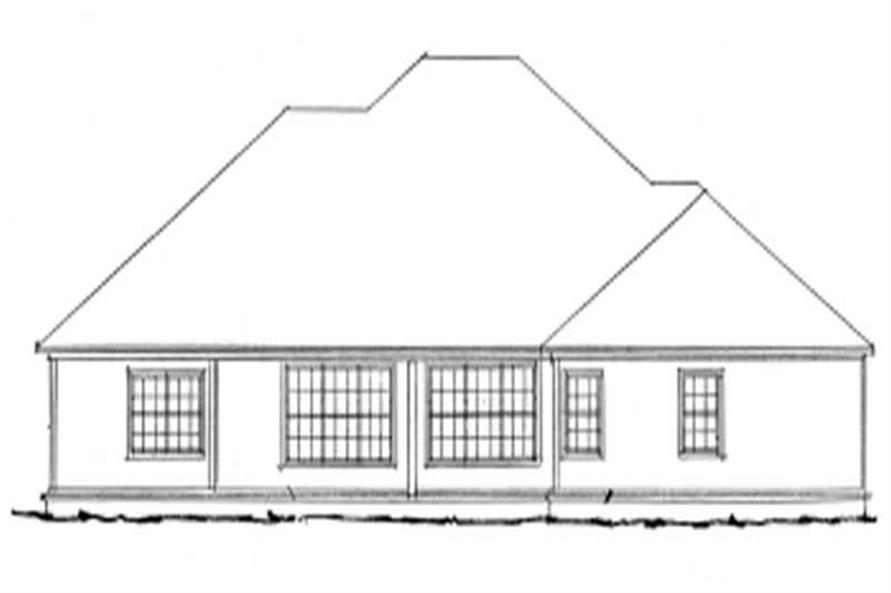 Home Plan Rear Elevation of this 4-Bedroom,2544 Sq Ft Plan -178-1044