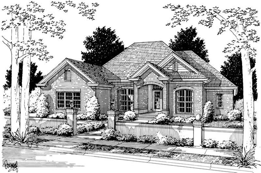 4-Bedroom, 2544 Sq Ft Ranch Home Plan - 178-1044 - Main Exterior