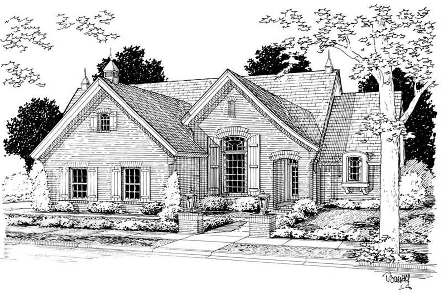 3-Bedroom, 1792 Sq Ft French House Plan - 178-1045 - Front Exterior