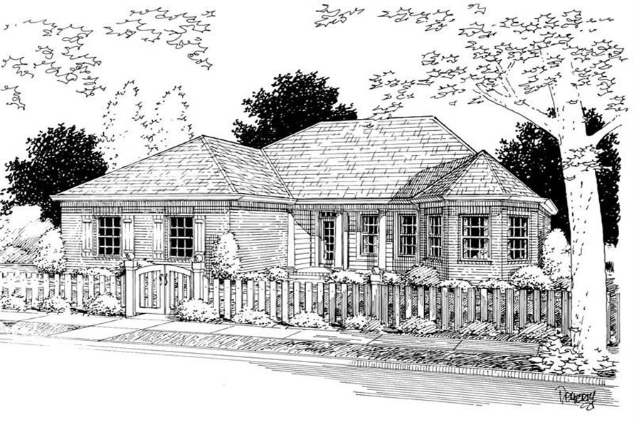 3-Bedroom, 1682 Sq Ft Small House Plans - 178-1046 - Front Exterior
