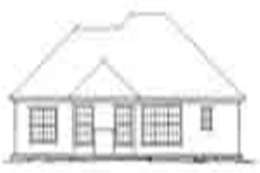 Home Plan Rear Elevation of this 2-Bedroom,1394 Sq Ft Plan -178-1047