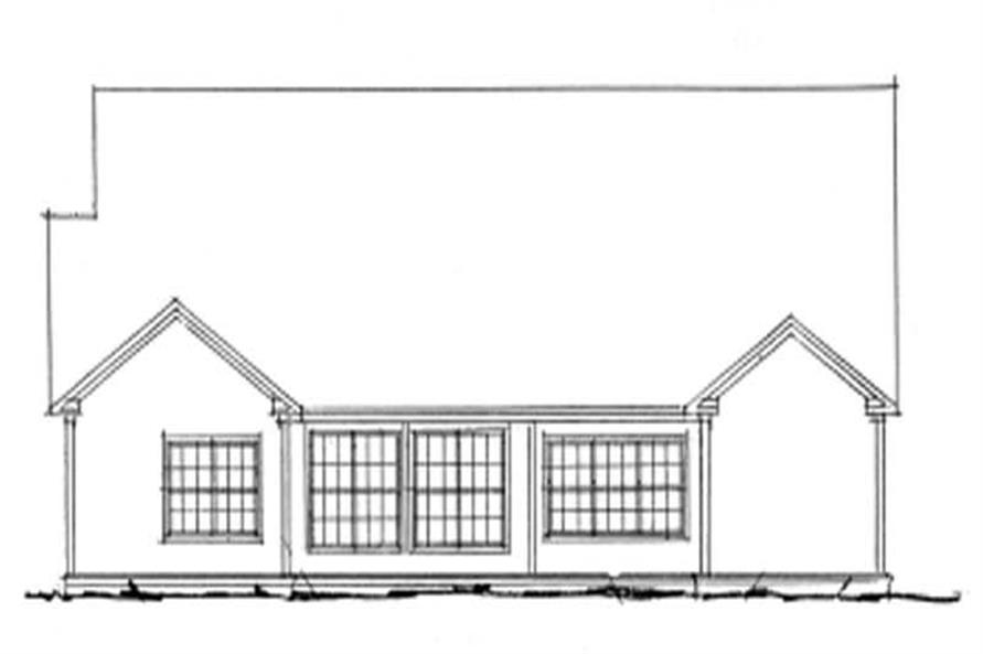 Home Plan Rear Elevation of this 4-Bedroom,1958 Sq Ft Plan -178-1048