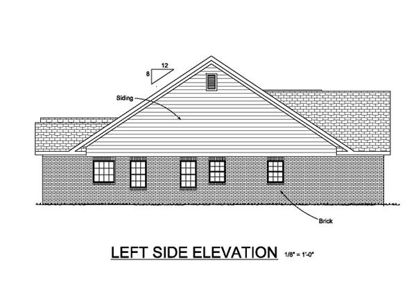 178-1048 house plan left elevation