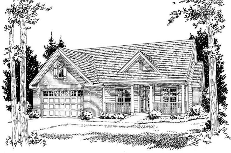 4-Bedroom, 1958 Sq Ft Country House Plan - 178-1048 - Front Exterior