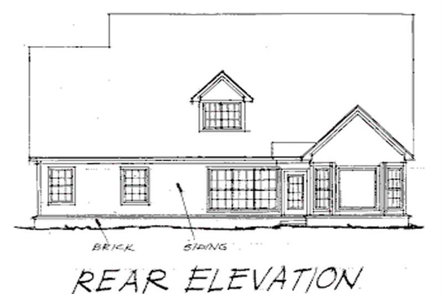 Home Plan Rear Elevation of this 4-Bedroom,2688 Sq Ft Plan -178-1050