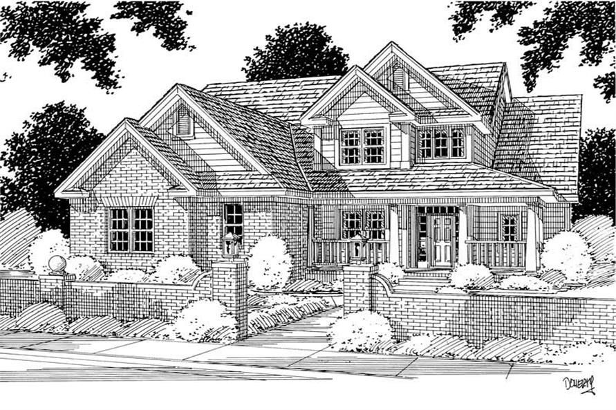4-Bedroom, 2688 Sq Ft Country Home Plan - 178-1050 - Main Exterior