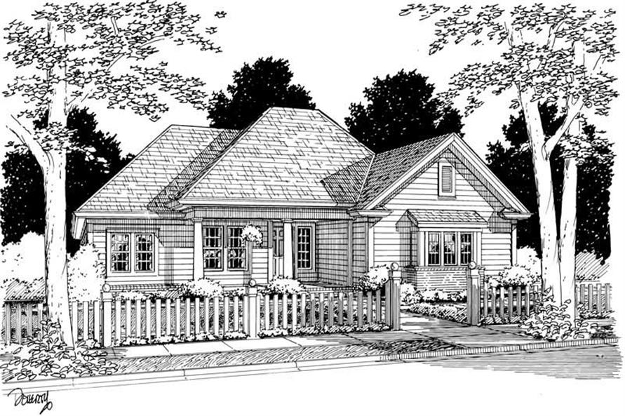 3-Bedroom, 1709 Sq Ft Small House Plans - 178-1052 - Main Exterior