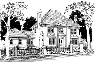 4-Bedroom, 3138 Sq Ft Colonial Home Plan - 178-1053 - Main Exterior