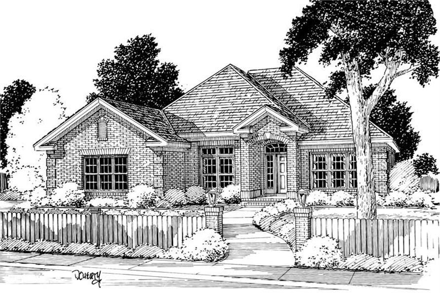 4-Bedroom, 2250 Sq Ft Ranch Home Plan - 178-1054 - Main Exterior