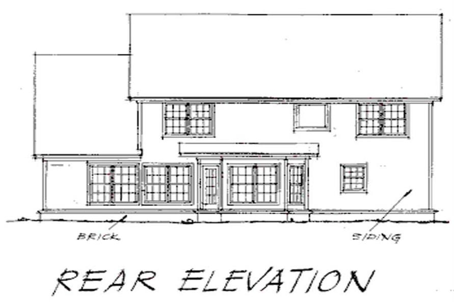 Home Plan Rear Elevation of this 5-Bedroom,2497 Sq Ft Plan -178-1056