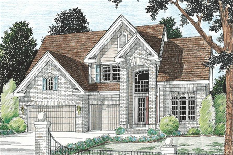 5-Bedroom, 2497 Sq Ft European Home Plan - 178-1056 - Main Exterior