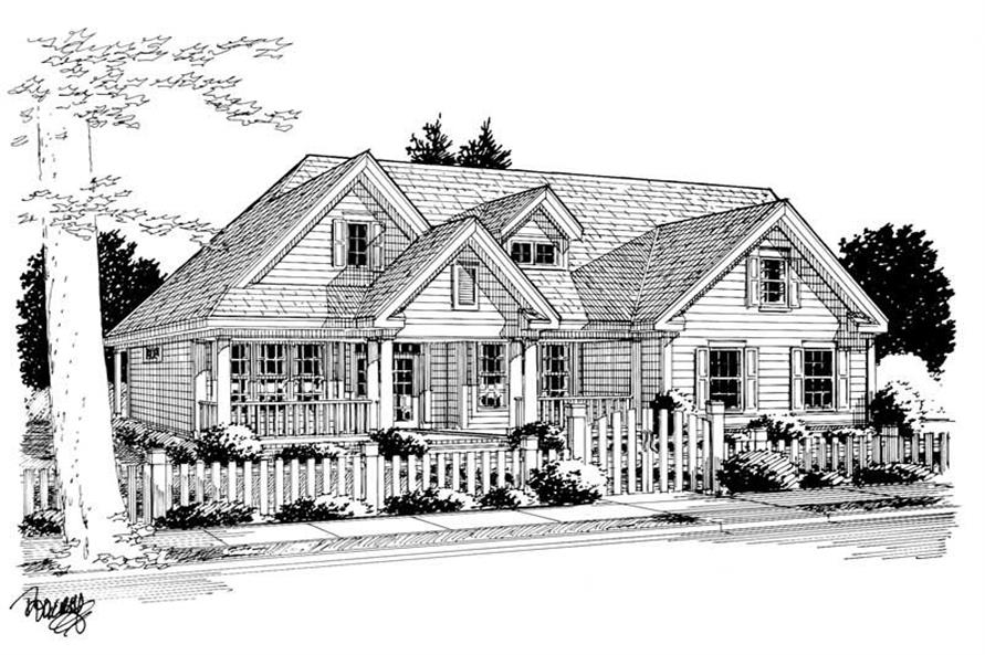 3-Bedroom, 1915 Sq Ft Country House Plan - 178-1057 - Front Exterior