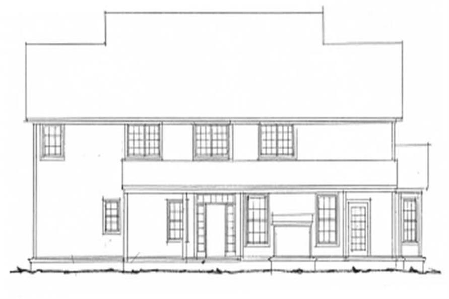 Home Plan Rear Elevation of this 4-Bedroom,2782 Sq Ft Plan -178-1058