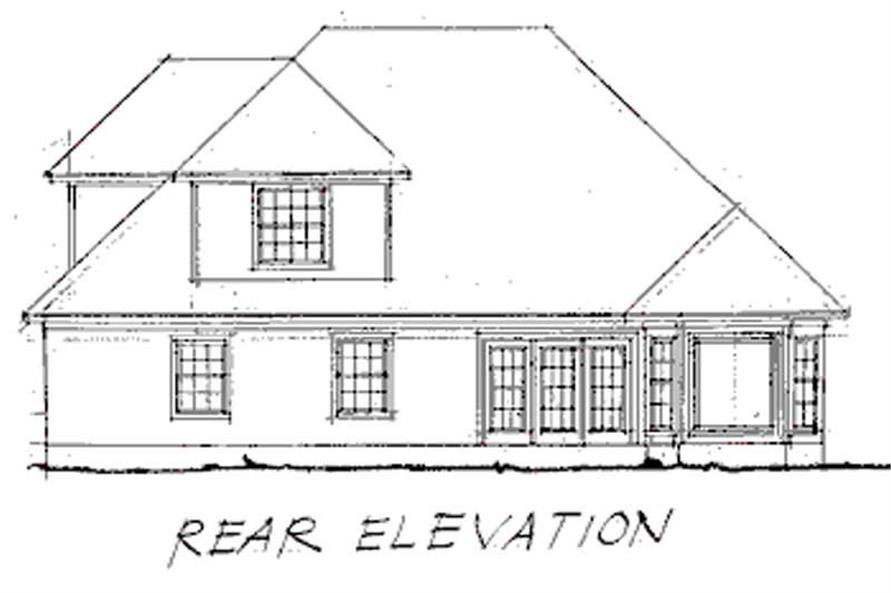 Home Plan Rear Elevation of this 3-Bedroom,1897 Sq Ft Plan -178-1064
