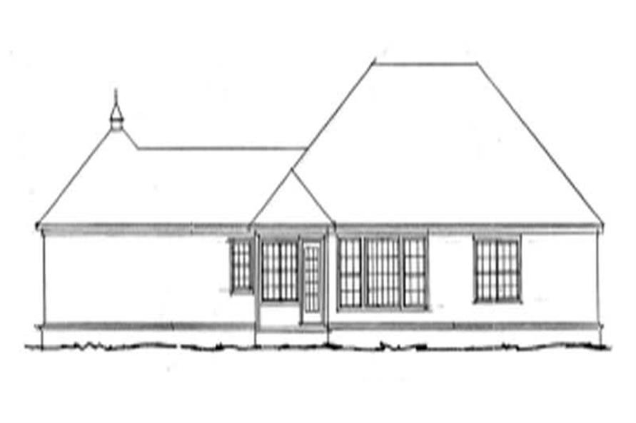 Home Plan Rear Elevation of this 3-Bedroom,1776 Sq Ft Plan -178-1065