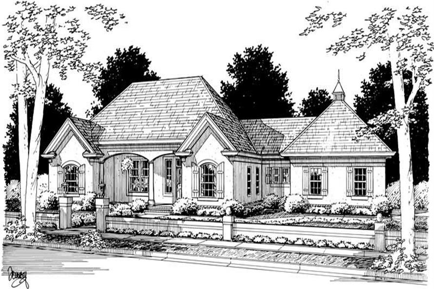 3-Bedroom, 1776 Sq Ft Small House Plans - 178-1065 - Main Exterior