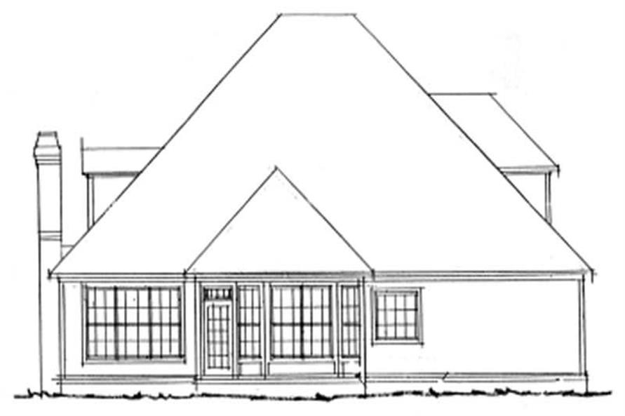 Home Plan Rear Elevation of this 4-Bedroom,2362 Sq Ft Plan -178-1066