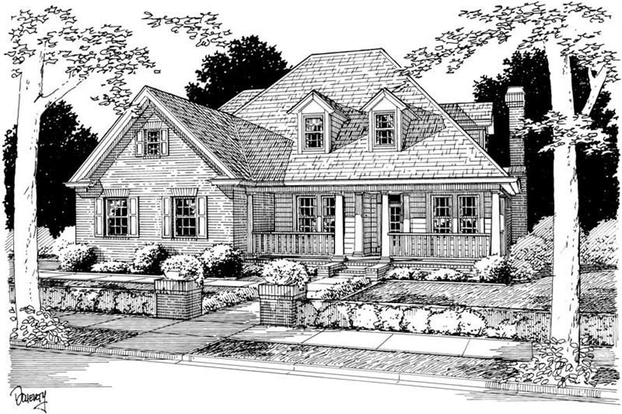 4-Bedroom, 2362 Sq Ft Country Home Plan - 178-1066 - Main Exterior