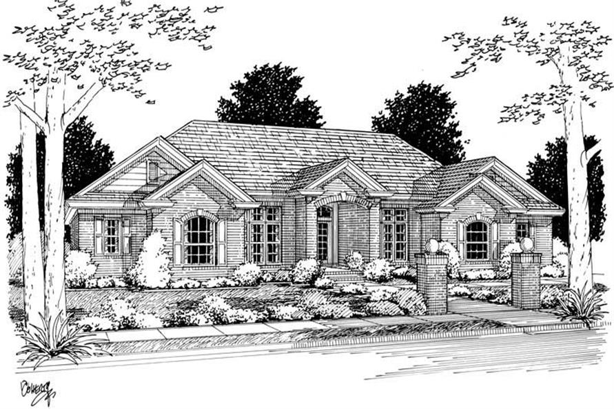 4-Bedroom, 2720 Sq Ft Ranch Home Plan - 178-1067 - Main Exterior
