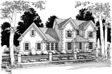 3-Bedroom, 1593 Sq Ft European Home Plan - 178-1068 - Main Exterior