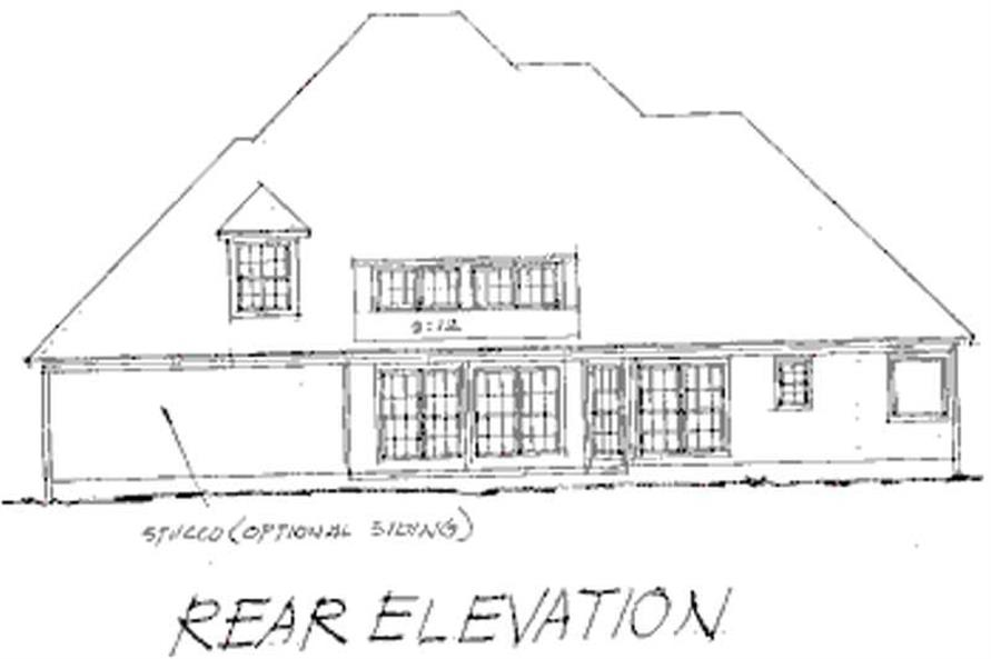 Home Plan Rear Elevation of this 4-Bedroom,2978 Sq Ft Plan -178-1069