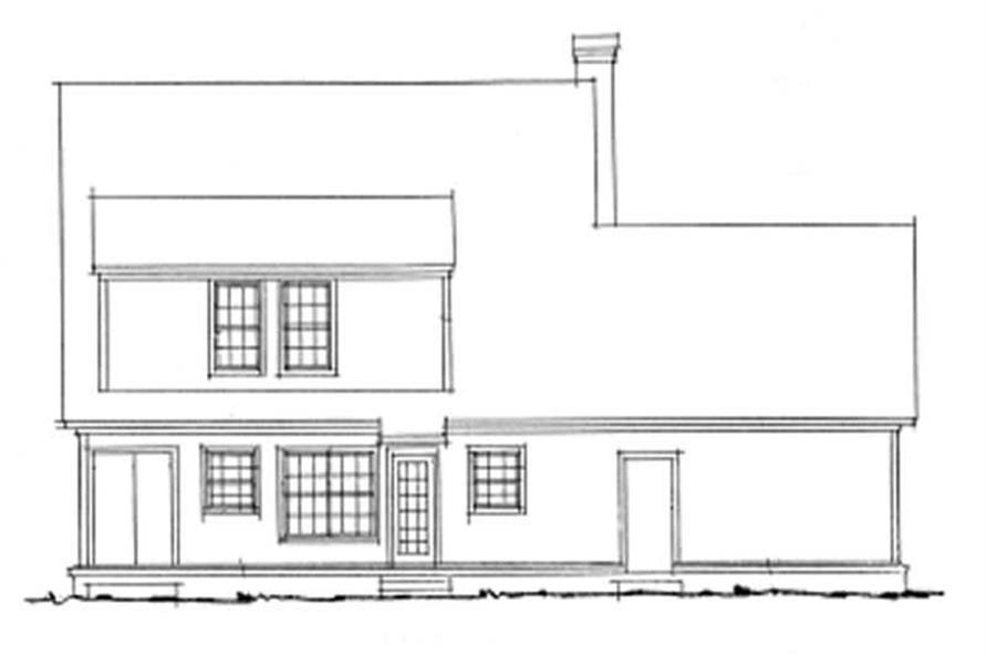 Home Plan Rear Elevation of this 3-Bedroom,1671 Sq Ft Plan -178-1070